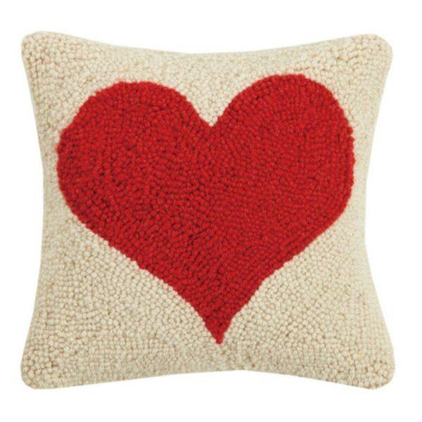 RED HEART HOOK PILLOW