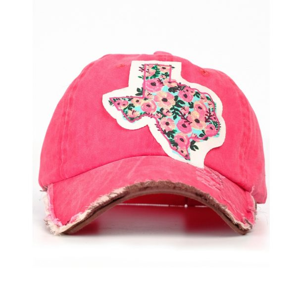 RED TEXAS ROSE PATCH HAT