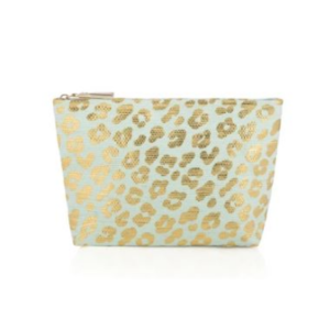 RILEY LEOPARD ZIP POUCH