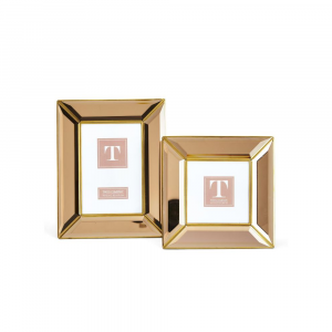 ROSE GOLD BEVELED MIRROR FRAMES