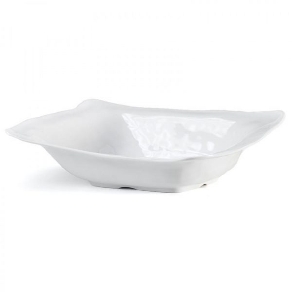 RUFFLE RECTANGLE SHALLOW SERVING BOWL
