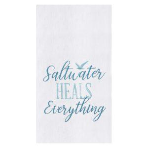 SALTWATER HEALS EVERYTHING KITCHEN TOWEL