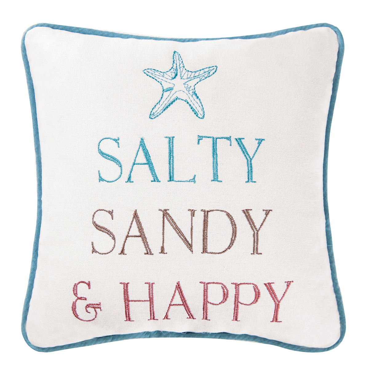SALTY, SANDY, & HAPPY PILLOW