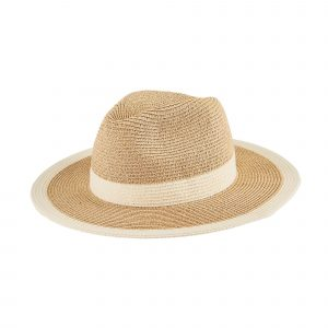 SAN DIEGO HAT COMPANY WATER REPELLENT STRIPED FEDORA HAT