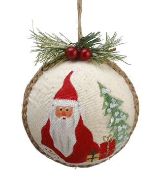 SANTA BALL ORNAMENT