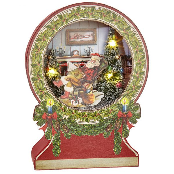SANTA LIGHTED SHADOWBOX