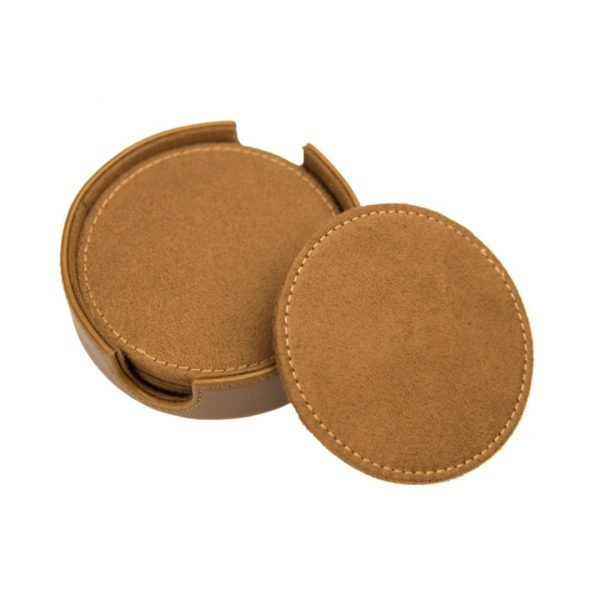SARGE KNIVES WATER WARRIOR LEATHER COASTERS