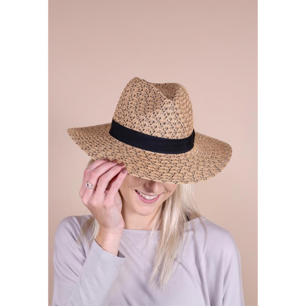 SEAGROVE STRAW HAT WITH BAND