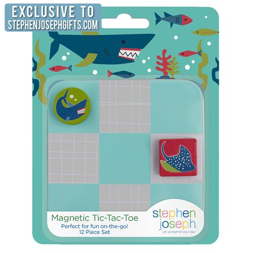 STEPHEN JOSEPH SHARK MAGNETIC TIC TAC TOE