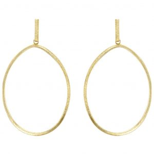 SHEILA FAJL TWISTED OVAL HOOP EARRINGS