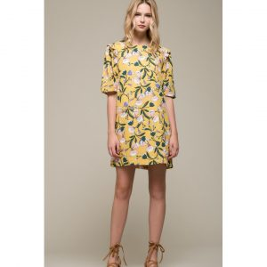 SHORT MARIGOLD FLORAL DRESS
