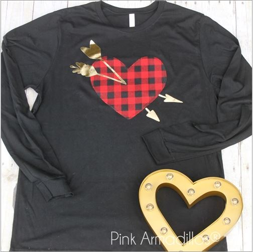 SHOT THROUGH THE HEART LONG SLEEVE TEE