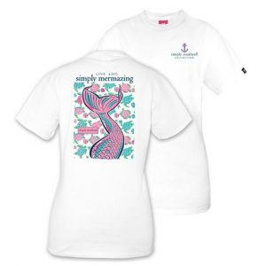 SIMPLY SOUTHERN YOUTH PREPPY MERMAID TSHIRT