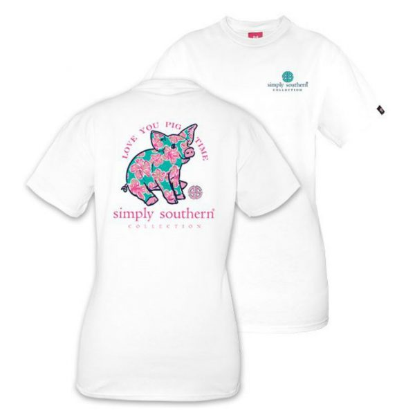 SIMPLY SOUTHERN YOUTH PREPPY PIGGY TSHIRT