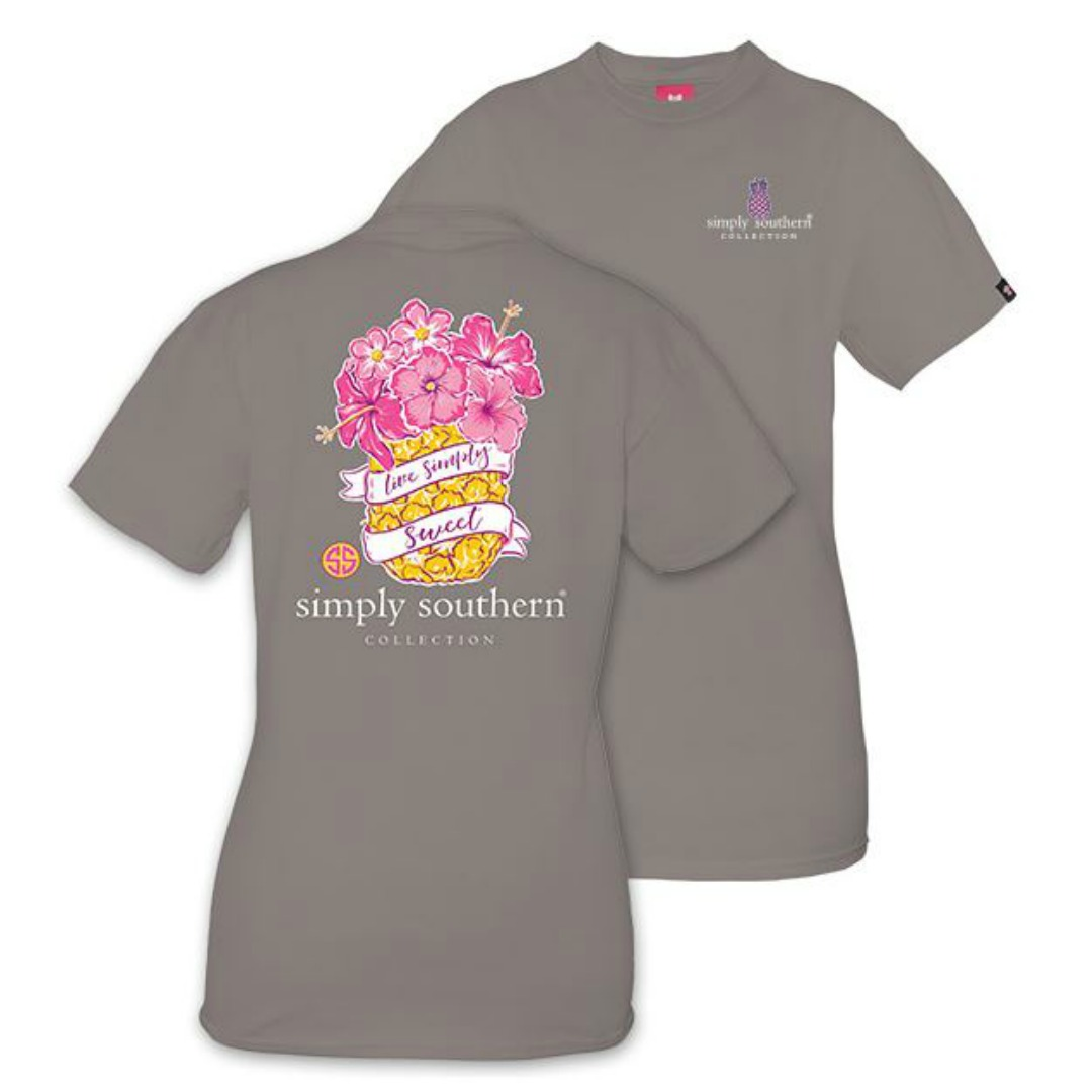 SIMPLY SOUTHERN YOUTH PREPPY PINEAPPLE TSHIRT