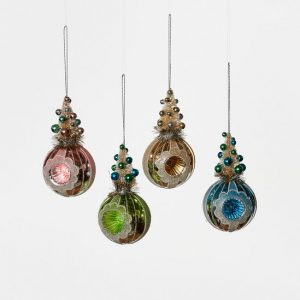 SISAL TREE REFLECTOR BALL ORNAMENTS