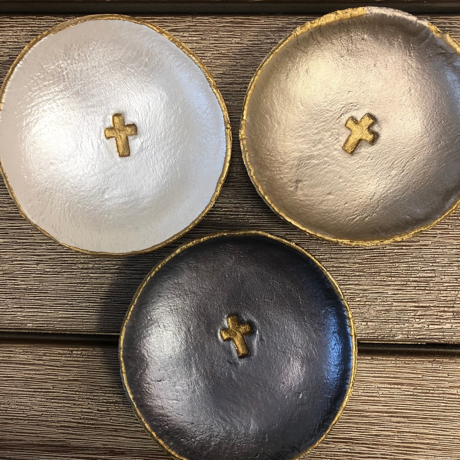 SMALL CROSS BLESSING BOWLS