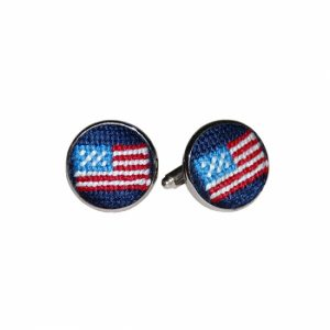 SMATHERS & BRANSON AMERICAN FLAG CUFF LINKS