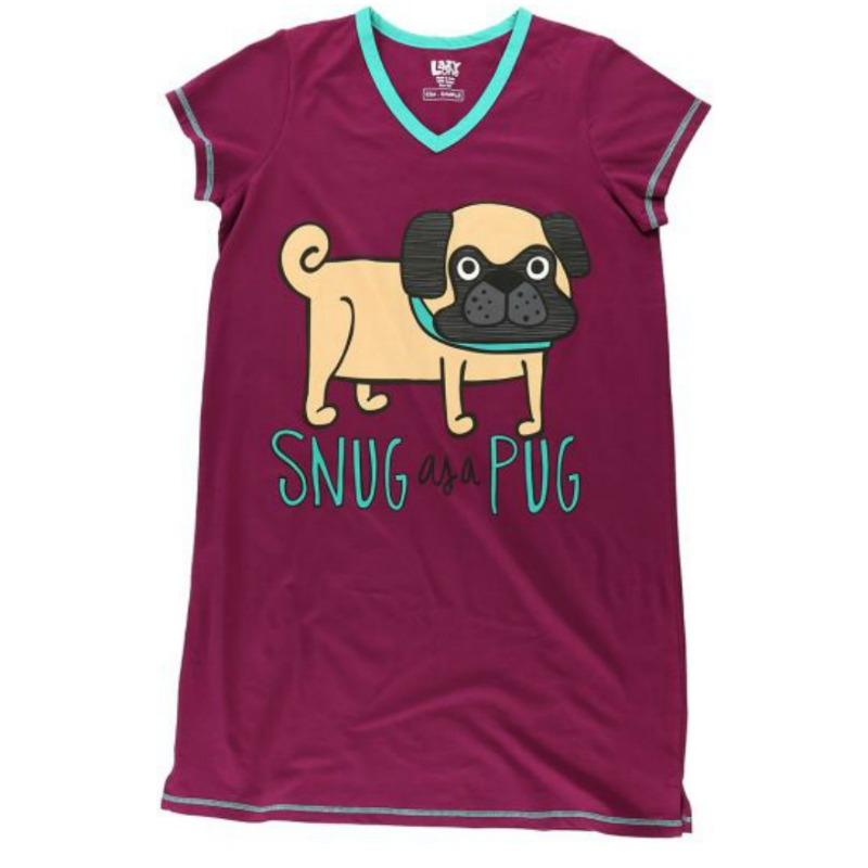 SNUG AS A PUG NIGHTSHIRT