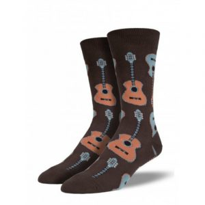 SOCKSMITH BROWN GUITAR SOCKS