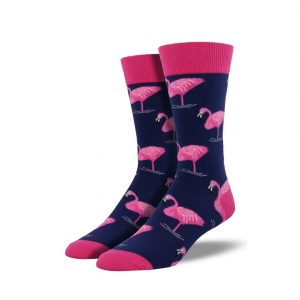 SOCKSMITH NAVY FLAMINGO SOCKS