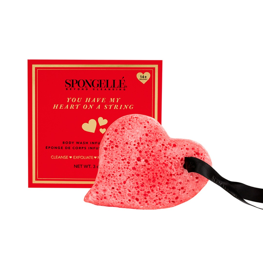 SPONGE HEART SOAP ON A STRING