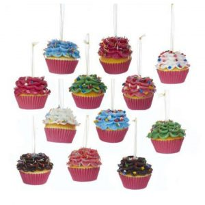SPRINKLE FOAM FLOWER CUPCAKE ORNAMENTS