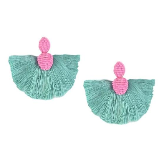 ST ARMANDS DESIGNS FAN TASSEL EARRINGS
