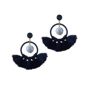ST ARMANDS DESIGNS RIO GINGER JAR TASSEL EARRINGS