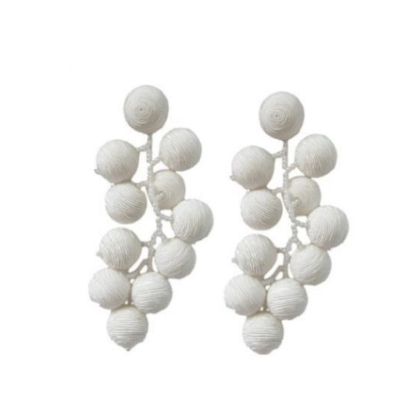 ST ARMANDS DESIGNS SEA GRAPE CLUSTER DROP EARRINGS