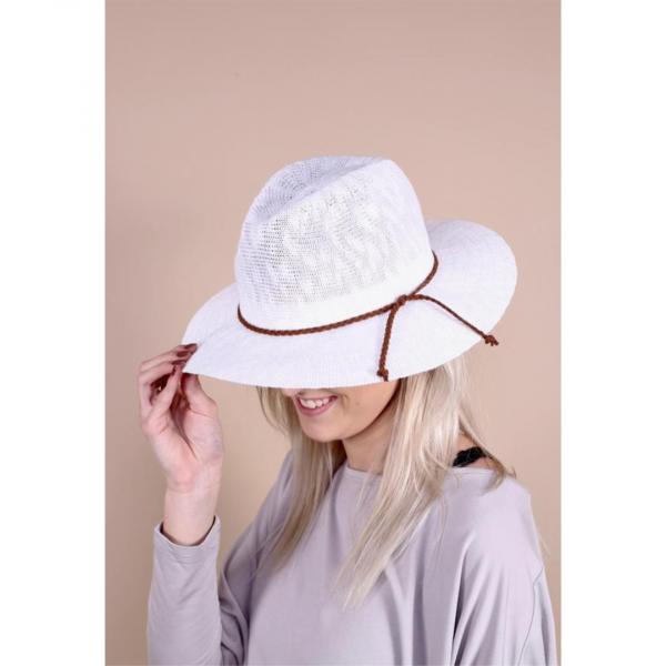 ST CROIX WHITE WOVEN HAT