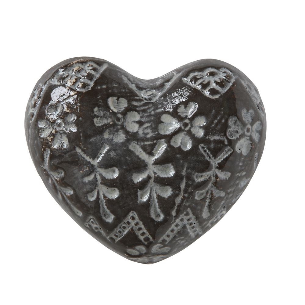 STONEWARE EMBOSSED HEART