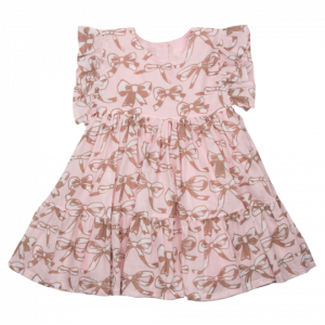 STRAWBERRY CREAM BOW KIT DRESS