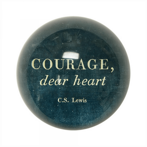 SUGARBOO COURAGE DEAR HEART PAPER WEIGHT