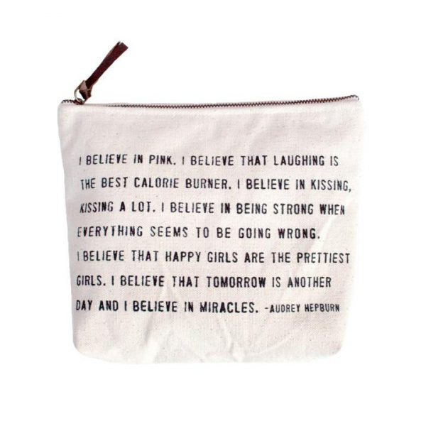 SUGARBOO DESIGNS CANVAS BAG - I BELIEVE IN PINK