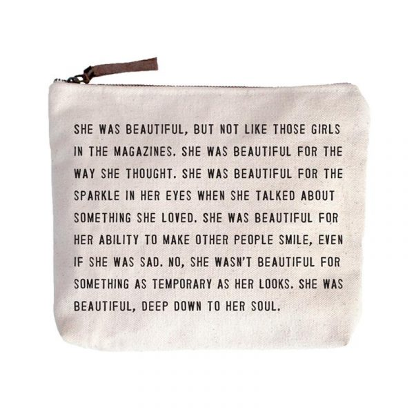SUGARBOO DESIGNS CANVAS BAG - SHE WAS BEAUTIFUL