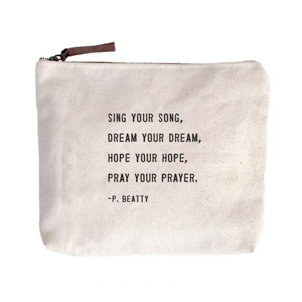 SUGARBOO DESIGNS CANVAS BAG - SING YOUR SONG