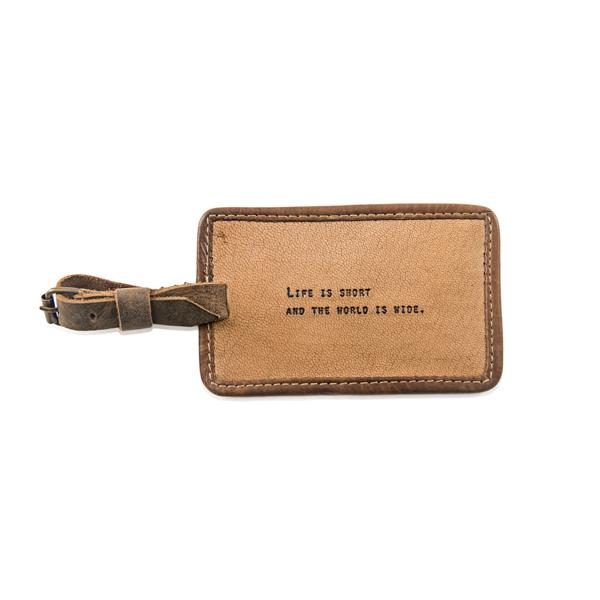 SUGARBOO DESIGNS LUGGAGE TAG - LIFE IS SHORT