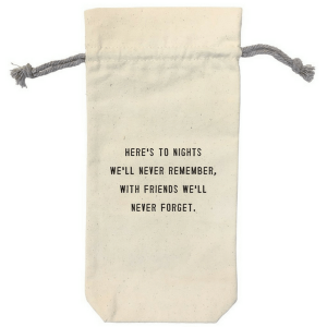SUGARBOO DESIGNS WINE BAG - HERE'S TO THE NIGHT