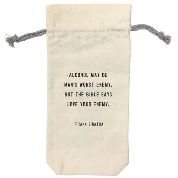 SUGARBOO DESIGNS WINE BAG - LOVE YOUR ENEMY