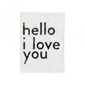 SUGARBOO HELLO I LOVE YOU PAPER PRINT