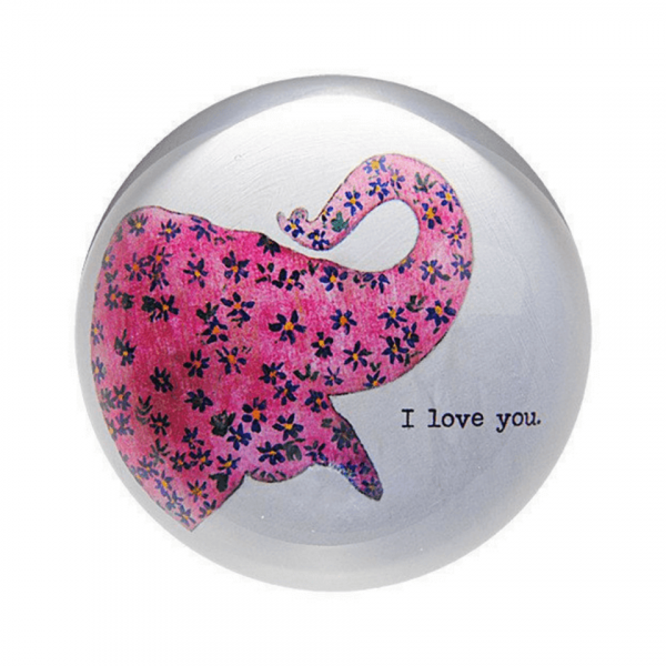 SUGARBOO PINK ELEPHANT PAPER WEIGHT