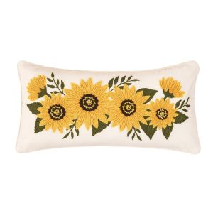 SUNFLOWER GARLAND PILLOW