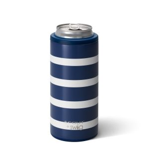SWIG NANTUCKET NAVY 12OZ SKINNY CAN COOLER