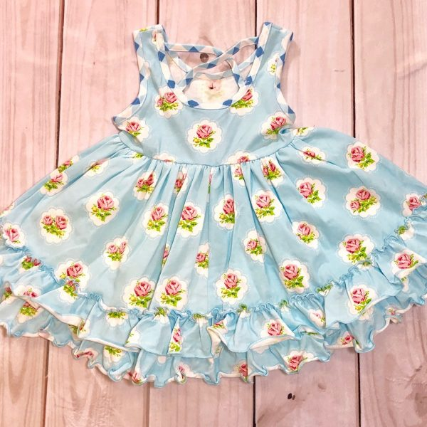 SWOON BABY BLUE FLORAL LOVIE DRESS