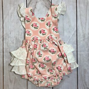 SWOON BABY PINK FLORAL BUBBLE ROMPER