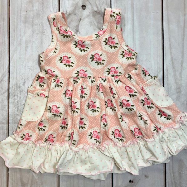 SWOON BABY PINK FLORAL POCKET DRESS