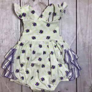SWOON BABY WHITE BUBBLE ROMPER
