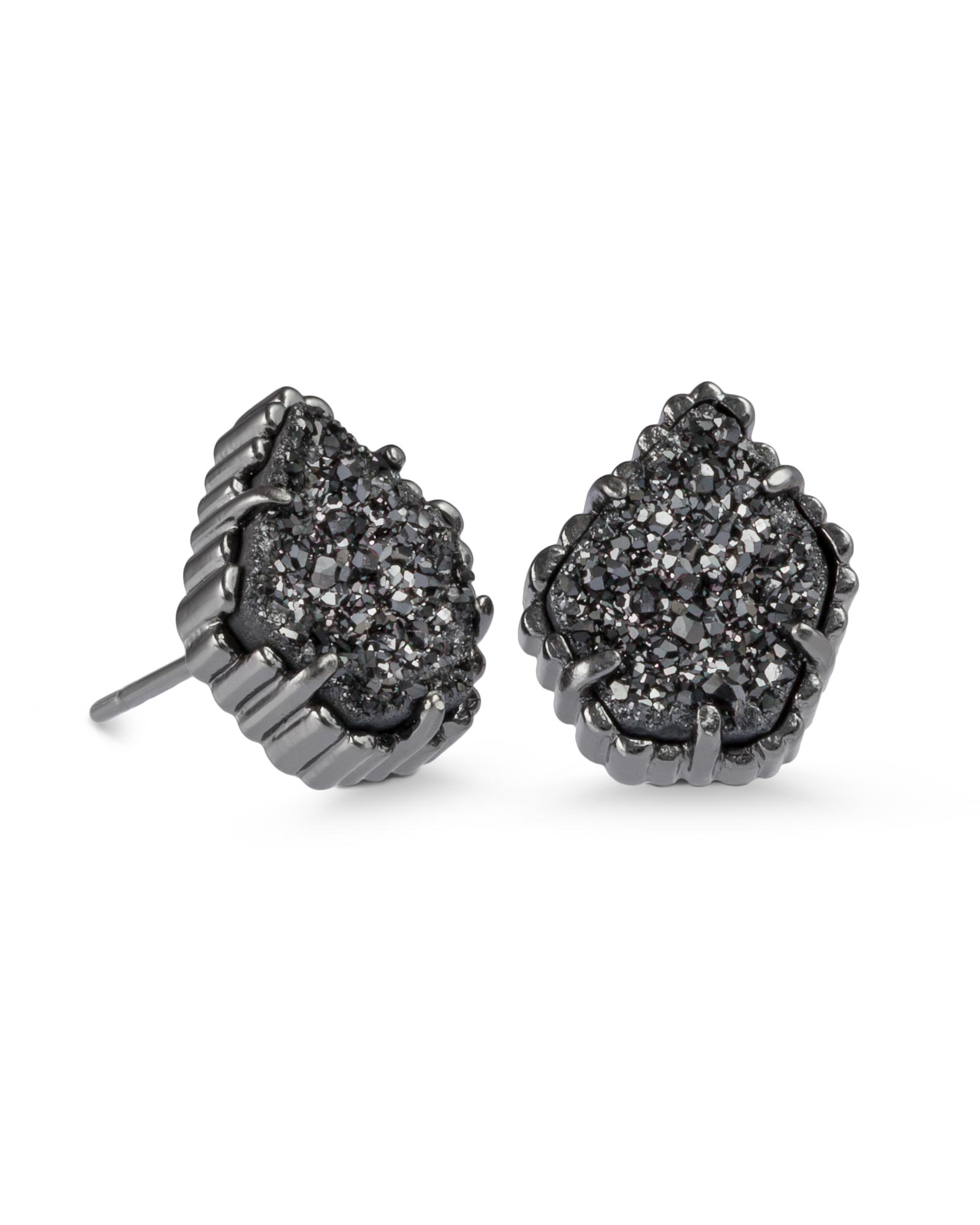 KENDRA SCOTT TESSA EARRINGS IN GUNMETAL