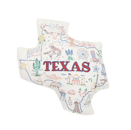 TEXAS SHAPED PILLOW